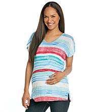 Three Seasons Maternity™ V-Neck Striped Top