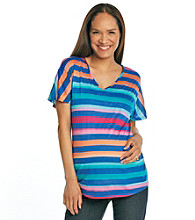 Three Seasons Maternity™ Striped V-Neck Top