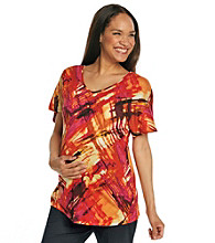 Three Seasons Maternity™ Printed Scoopneck Top