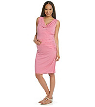 Three Seasons Maternity™ Drapeneck Side-Ruched Dress
