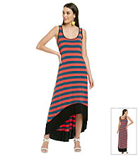 Kensie® Striped Maxi Dresss