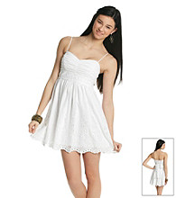 Trixxi® Juniors' Spagetti Strap Eyelet Dress