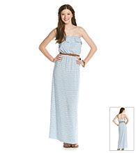 Trixxi® Juniors' Striped Maxi Dress