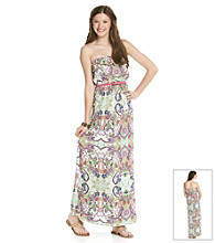 Trixxi® Juniors' Paisley Print Maxi Dress