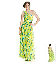 Rampage® Juniors' One Shoulder Tiedye Gown