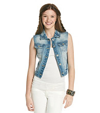 Wallflower Vintage® Juniors' Denim Vest