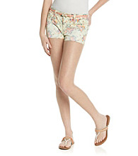 Wallflower Vintage® Juniors' Floral Belted Short