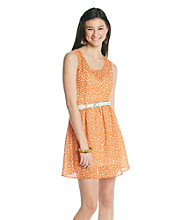 Sequin Hearts® Juniors' Butterfly Print Dress