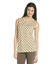 Sweater Project Juniors' Studded Shoulder Skull Print Tank