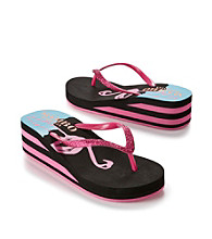 Mambo® Flamingo Wedge Flip Flops