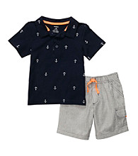 Carter's® Baby Boys' Navy 2-pc. Anchor Print Shorts Set