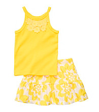 Carter's® Baby Girls' Yellow 2-pc. Floral Skort Set