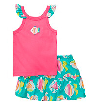 Carter's® Baby Girls' Hot Pink 2-pc. Fish Print Skort Set