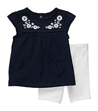 Carter's® Baby Girls' Navy/White 2-pc. Embroidered Set
