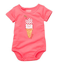 OshKosh B'Gosh® Baby Girls' Coral Ice Cream Cone Bodysuit