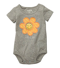 OshKosh B'Gosh® Baby Girls' Grey Sunflower Bodysuit