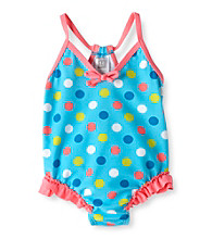 Carter's® Baby Girls' Turquoise Polka-Dot Swimsuit