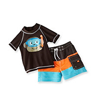 Carter's® Baby Boys' Brown 2-pc. Monkey Rash Guard Swim Set