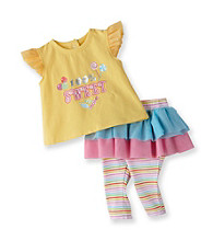 Vitamins Baby® Baby Girls' Yellow 2-pc. Sweet Skeggings Set