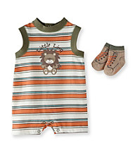 Vitamins Baby® Baby Boys' Orange Lion Romper with Socks