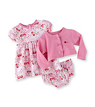 Vitamins Baby® Baby Girls' Pink 3-pc. Cherry Print Dress Set