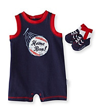 Vitamins Baby® Baby Boys' Navy Home Run Romper with Socks