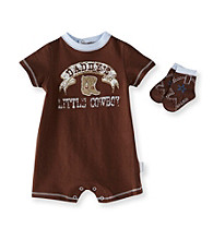 Vitamins Baby® Baby Boys' Brown Cowboy Romper with Socks