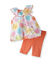 Vitamins Baby® Baby Girls' Orange 2-pc. Floral Bubble Set