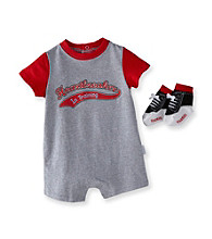 Vitamins Baby® Baby Boys' Grey Heart Breaker Romper with Socks