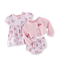 Vitamins Baby® Baby Girls' Pink 3-pc. Rose Print Dress Set