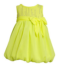 Bonnie Jean® Girls' 2T-4T Neon Yellow Chiffon Bubble Dress