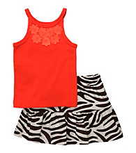 Carter's® Girls' 2T-4T Orange Animal Print Skort Set