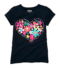 OshKosh B'Gosh® Girls' 4-6X Navy Heart Tee