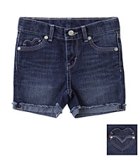 Levi's® Girls' 2T-6X Dark Wash Summer Love Shorty Shorts