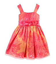 Amy Byer Girls' 7-16 Coral/Pink Floral Emma Dress
