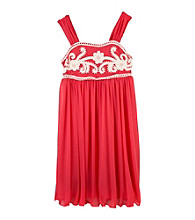 Amy Byer Girls' 7-16 Coral Grecian Dress