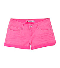 Levi's® Girls' 7-16 Pink Cuffed Shorty Shorts