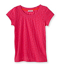 Grane® Girls' 7-16 Pink Cheetah Print Burnout Tee
