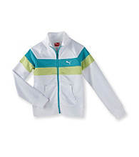 PUMA® Girls' 7-16 Whtie Colorblock Track Jacket