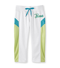 PUMA® Girls' 7-16 Whtie Colorblock Track Capris