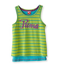 PUMA® Girls' 7-16 Green/Blue Puma Double Tank
