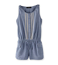 Jessica Simpson Girls' 7-16 Denim Chambray Romper