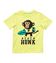 Carter's® Boys' 2T-4T Yellow Short Sleeve Beach Hunk Monkey Tee
