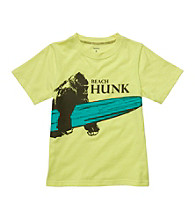 Carter's® Boys' 4-7 Yellow Short Sleeve Beach Hunk Gorilla Tee
