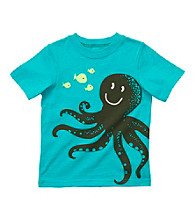 Carter's® Boys' 2T-4T Turquoise Short Sleeve Octopus Tee