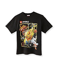 LEGO® Boys' 8-20 Black Short Sleeve Ninjago Multi Character Tee