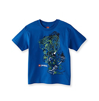 LEGO Boys' 8-20 Royal Blue Short Sleeve Ninjago Tee Kid's
