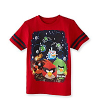 Angry Birds™ Boys' 8-20 Red Short Sleeve Deep Space Tee