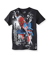 Spider-Man® Boys' 8-20 Black Short Sleeve Hang Time Tee