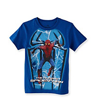 Spider-Man® Boys' 8-20 Royal Blue Short Sleeve Shadows Tee
